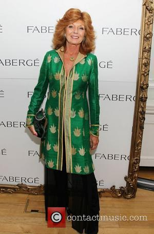 Rula Lenska attending the Faberge Big Egg Hunt Champagne Countdown party at Quintessentially London, England - 18.01.12