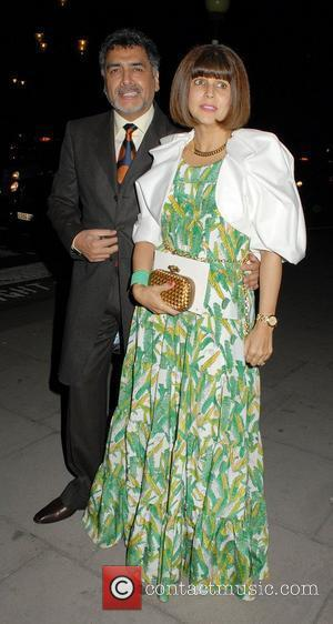 James Caan and Aisha Caan,  at The Faberge Big Egg Hunt Grand Auction at the Royal Courts of Justice...