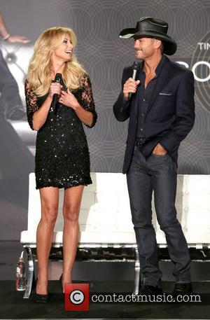 Faith Hill, Tim McGraw  Country music superstars Tim McGraw and Faith Hill hold a town hall style press conference...