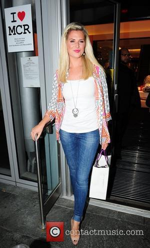 Sarah Jayne Dunn of Hollyoaks,  at the Tracey Bell & Fake Bake Beauty Boutique party at Selfridges. Manchester, England...
