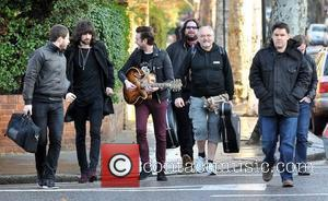 Kasabian   arriving at Fearne Cotton's house for her Christmas Party  London, England - 22.12.11