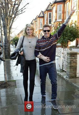 Georgia Horsley and Danny Jones  leaving Fearne Cotton's house after her Christmas Party London, England - 22.12.11
