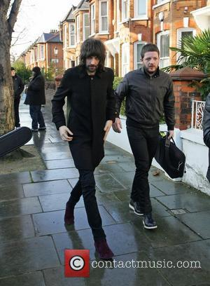 Sergio Pizzorno and Tom Meighan of Kasabian  leaving Fearne Cotton's house after her Christmas Party London, England - 22.12.11