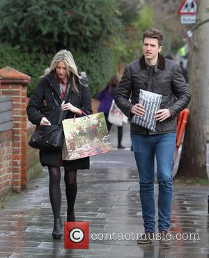 Greg James Celebrities arrive at Fearne Cotton's house for her Radio 1 'At home with Fearne' Christmas Special  Featuring:...