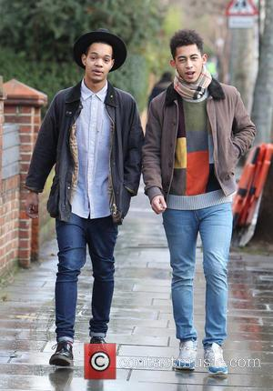 Jordan 'Rizzle' Stephens; Harley 'Sylvester' Alexander-Sule; Rizzle Kicks Celebrities arrive at Fearne Cotton's house for her Radio 1 'At home...