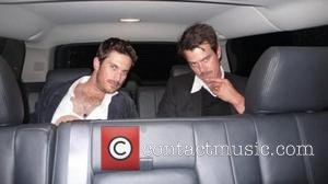 Fergie posted this picture of her husband Josh Duhamel and Oliver Hudson on Twitter with the quote, 'Check out @joshduhamel...