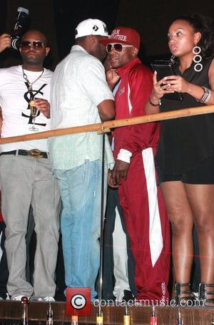 50 Cent, real name Curtis Jackson, and Floyd Mayweather Floyd Mayweather fight after party at Rain nightclub inside The Palms...