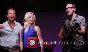Brian Patrick Murphy, Megan Hilty and Brian Gallagher  Benefit concert entitled Voices for 'Find My Voice.Org' held at The...
