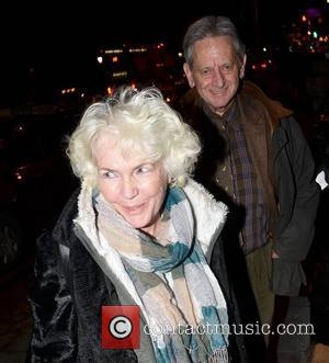 Fionnula Flanagan  spotted with her husband Dr. Garrett O'Connor at the Shelbourne Hotel  Dublin, Ireland - 10.02.12.