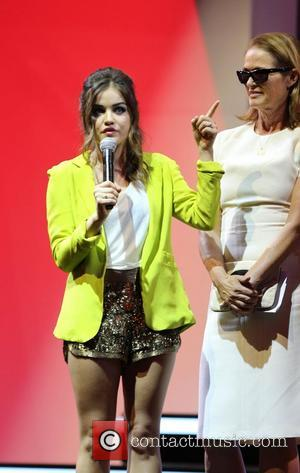 Lucy Hale and Lisa Love Fashion's Night Out 2012 - Beverly Center Beverly Hills, California - 06.09.12