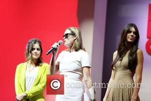 Lucy Hale, Lisa Love and Kendall Jenner Fashion's Night Out 2012 - Beverly Center Beverly Hills, California - 06.09.12