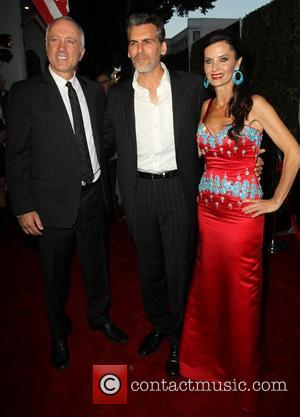 Izek Shomof, Oded Fehr, Aline Shomof The Los Angeles premiere of 'For The Love Of Money' held at The Writers...