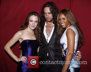 Laura Osnes. Constantine Maroulis and Deborah Cox  backstage at the 'Frank Wildhorn and Friends' concert, held at Birdland Jazz...