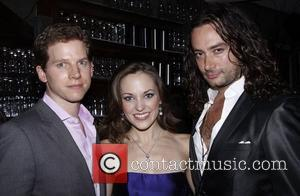 Stark Sands, Constantine Maroulis and Laura Osnes