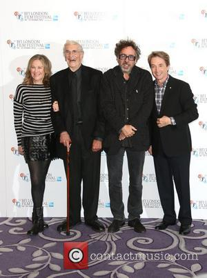 Tim Burton, Martin Landau, Catherine O'hara and Martin Short