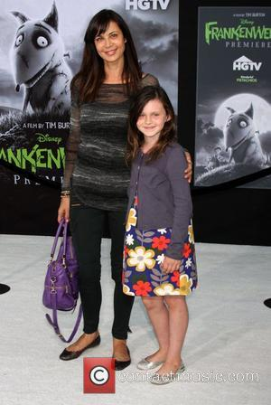 Catherine Bell and her daughter Disney's 'Frankenweenie' premiere at the El Capitan Theatre - Arrivals Hollywood, California - 24.09.12