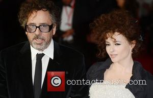 Tim Burton and Helena Bonham- Carter at the premiere of