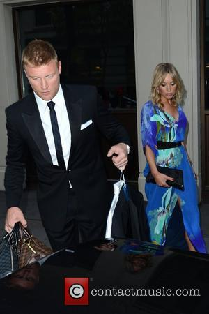 Freddie Flintoff and his wife Rachael Woods are seen leaving the Mayfair hotel  London, England - 29.05.12