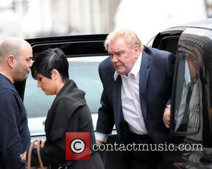 Freddie Starr leaving Claridge's Hotel to head to Harley Street to give an interview to deny recent claims made against...