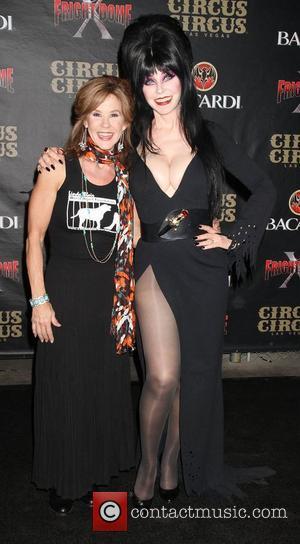 Linda Blair and Elvira
