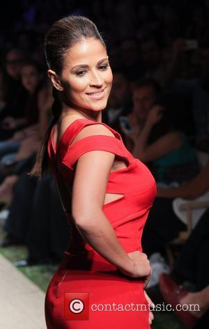 Jackie Guerrido Red Dress Fashion Show during Funkshion Fashion Week Miami Beach, to benefit 'Go Red For Women'  Miami...