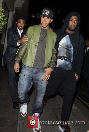 Lewis Hamilton leaving Funky Buddha nightclub London, England - 11.07.12