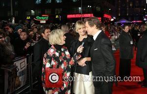 Edith Bowman, Cameron Diaz and Colin Firth