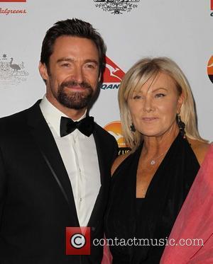 Hugh Jackman; Deborra-Lee Furness G'Day USA Black Tie Gala at the JW Marriot at LA Live - Arrivals  Featuring:...