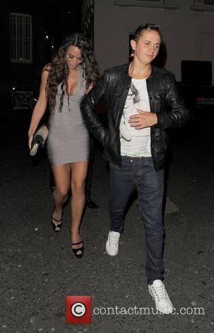 George Lineker leaving Aura nightclub with glamour models Jessica Impiazzi and Natalie Lawrence. London, England - 05.07.12