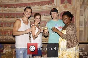Richard Fleeshman, Caissie Levy, Bryce Pinkham and Da'vine Joy Randolph 'Ghost The Musical' celebrates 100 Broadway performances at the Lunt-Fontanne...