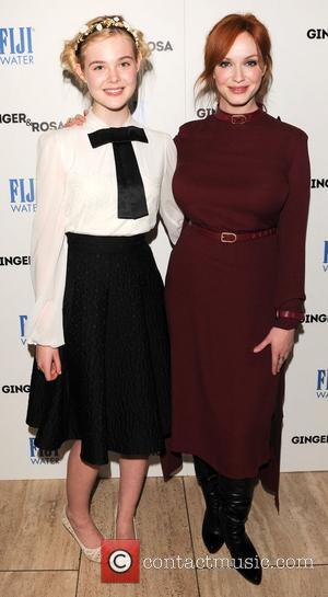 Elle Fanning and Christina Hendricks