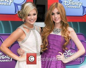 Olivia Holt and Katherine McNamara Screening of  Disney's 'Girl vs. Monster' at the Walt Disney Studios Los Angeles, California...
