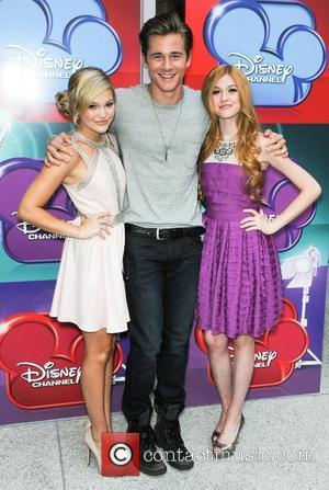 Olivia Holt, Luke Benward and Katherine McNamara Screening of  Disney's 'Girl vs. Monster' at the Walt Disney Studios Los...