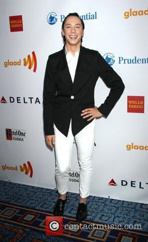 Johnny Weir 23rd Annual GLAAD Media Awards at the Marriott Marquis Hotel - Arrivals. New York City, USA - 24.03.12