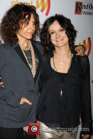 Linda Perry and Sara Gilbert The 23rd Annual GLAAD Media Awards at Westin Bonaventure Hotel  Los Angeles, California -...