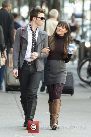 Chris Colfer and Lea Michele