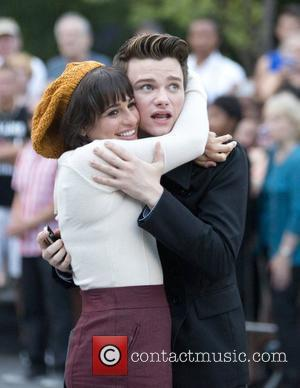 Lea Michele and Chris Colfer
