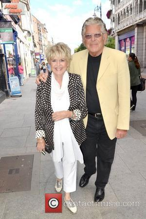 TV presenter Gloria Hunniford with husband and celebrity hairdresser Stephen Way, spotted walking past The Gaiety Theatre. Dublin, Ireland -...