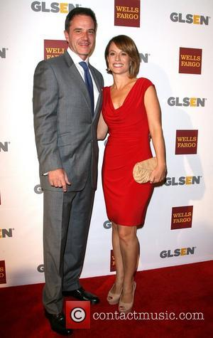 Tim Dekay and wife Elisa Dekay 8th Annual GLSEN Respect Awards held at the Beverly Hills Hotel - Arrivals Los...