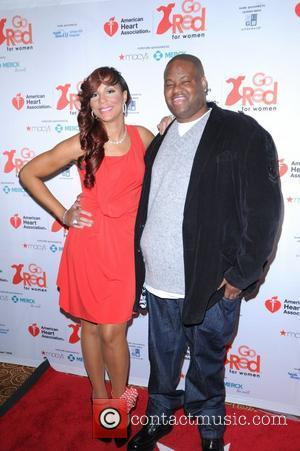 Tamar Braxton, Vincent Herbert American Heart Association's 2012 New York City 'Go Red For Women' Luncheon held at the Hilton...