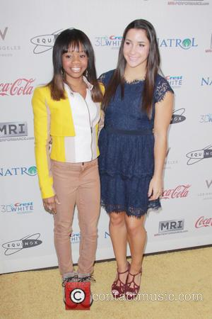 Gabby Douglas; Ally Raisman 'Gold Meets Golden' event at The Lounge at Equinox in West Los Angeles  Featuring: Gabby...