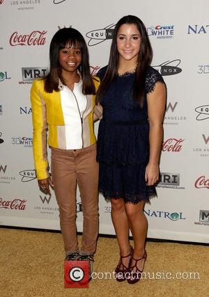 Gabby Douglas; Aly Raisman 'Gold Meets Golden' event at The Lounge in Equinox West LA - Arrivals  Featuring: Gabby...