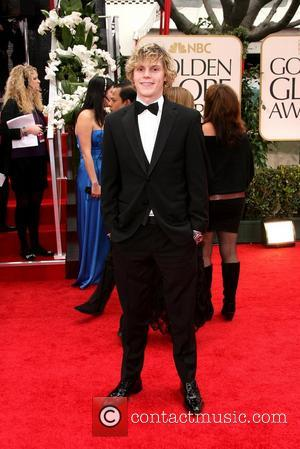 Evan Peters, Golden Globe Awards and Beverly Hilton Hotel