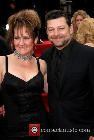 Lorraine Ashbourne and Andy Serkis The 69th Annual Golden Globe Awards (Golden Globes 2012) held at The Beverly Hilton Hotel...