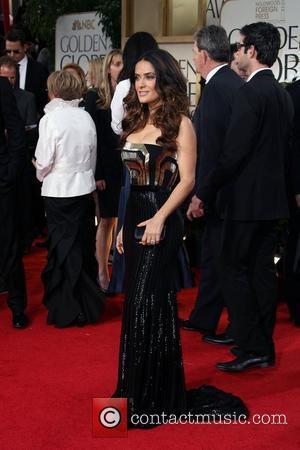 Salma Hayek, Golden Globe Awards and Beverly Hilton Hotel