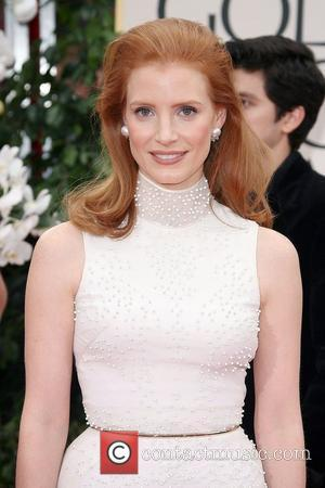 Jessica Chastain, Golden Globe Awards and Beverly Hilton Hotel