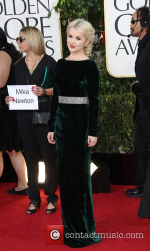 Mika Newton 70th Annual Golden Globe Awards held at the Beverly Hilton Hotel - Arrivals  Featuring: Mika Newton Where:...