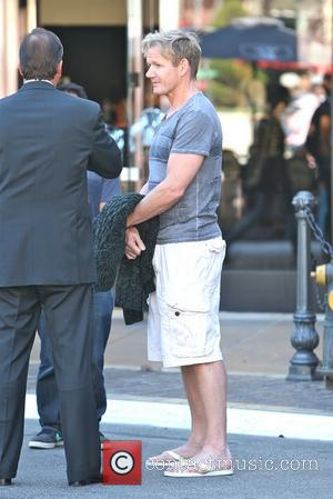 Gordon Ramsey is seen heading to his restaurant The Fat Cow at The Grove  Los Angeles, California - 21.11.12