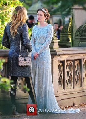 Blake Lively and Leighton Meester,  filming 'Gossip Girl' on location in Central Park. New York City, USA - 11.10.12