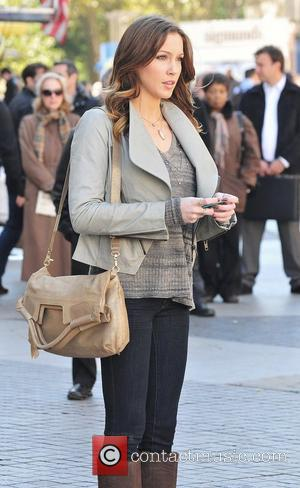 Katie Cassidy,  filming 'Gossip Girl' on location in Central Park. New York City, USA - 11.10.12